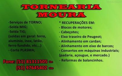 Tornearia Moura serviços de torno e soldas Torres RS Foto 1