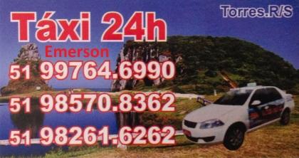 Táxi Evilásio e Emerson 24 horas ponto taxi hospital Torres RS Foto 1